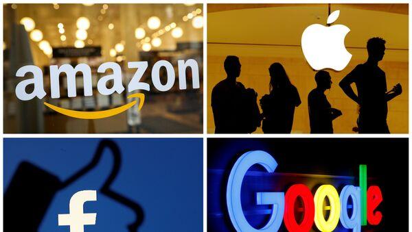 Amazon, Apple, Facebook, Google logolarının kombinasyonu - Sputnik Türkiye