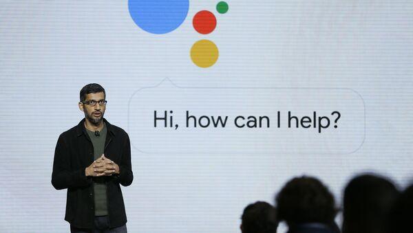 Google CEO'su Sundar Pichai - Google Asistan - Sputnik Türkiye