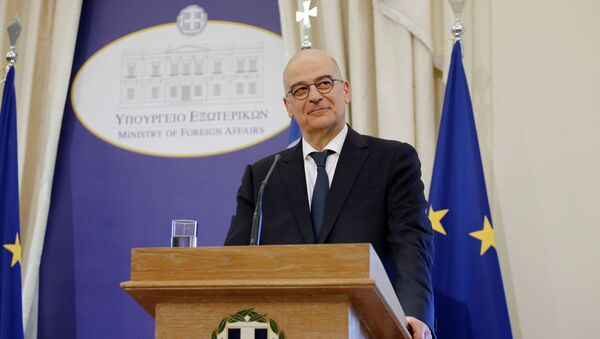Yunanistan Dışişleri Bakanı Nikos Dendias - Sputnik Türkiye