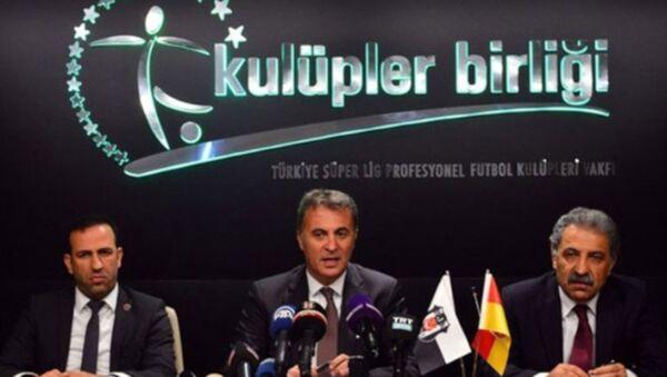 Kulüpler Birliği toplantısı sonrası başkan Fikret Orman, basın mensuplarına açıklamada bulundu. - Sputnik Türkiye