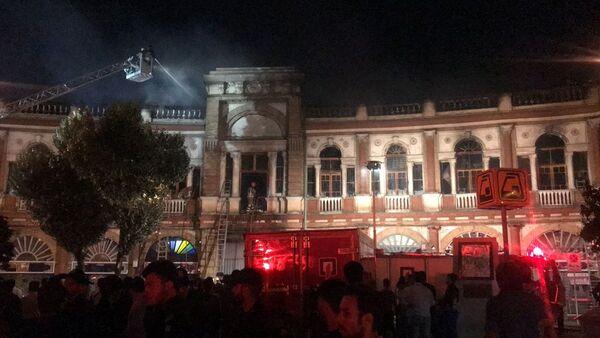 İran, tarihi bina, yangın - Sputnik Türkiye
