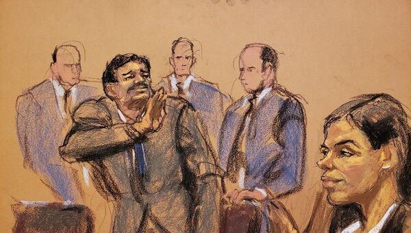 Dünyanın en büyük uyuşturucu örgütünün elebaşı olmakla suçlanan El Chapo (cüce) lakaplı Joaquin Guzman - Sputnik Türkiye