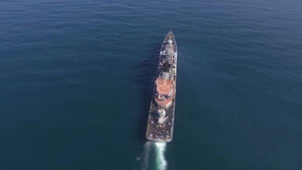 Rus savaş gemileri süpersonik Moskit füzeleri ile belirlenen hedefi imha etti - Sputnik Türkiye