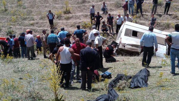 Van'da göçmenleri taşıyan minibüs takla attı - Sputnik Türkiye