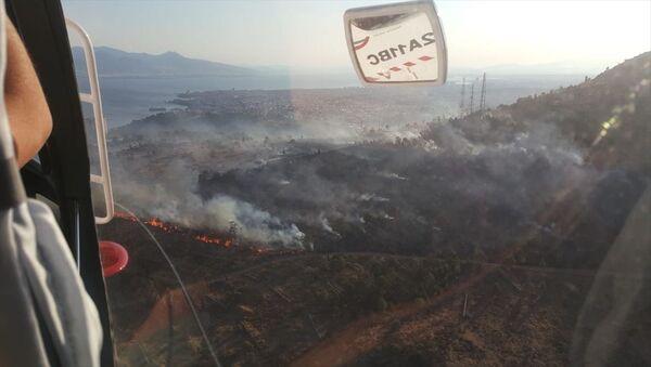 Bayraklı yangın - Sputnik Türkiye
