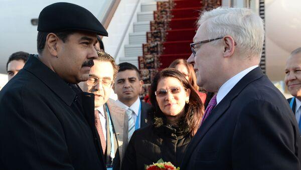 Venezüella Devlet Başkanı Maduro, Rusya Dışişleri Bakan Yardımcısı Sergey Ryabkov - Sputnik Türkiye
