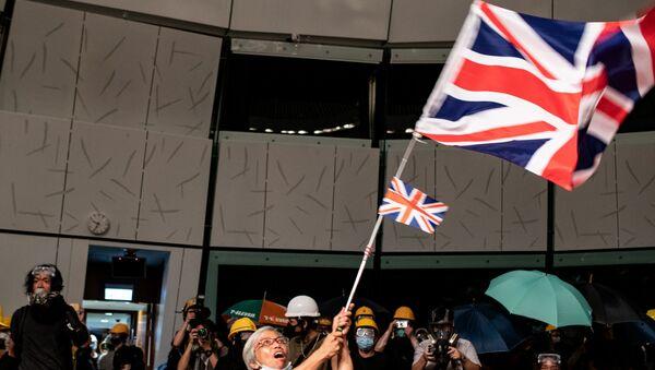 Hong Kong - protestolar - Sputnik Türkiye