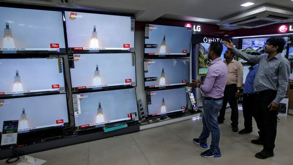 Hindistan, Chandrayaan-2 adlı uzay aracını başarılı bir şekilde fırlattı. - Sputnik Türkiye