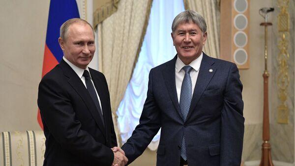 Putin ve Atambayev - Sputnik Türkiye