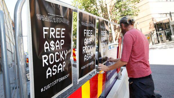 İsveç'te tutuklanan ABD'li rapçi ASAP Rocky'nin serbest bırakılması için kampanyalar düzenlendi. - Sputnik Türkiye