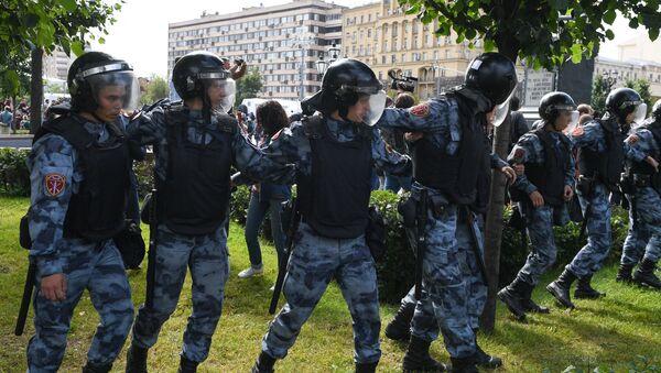 Moskova'da protestolar - Sputnik Türkiye