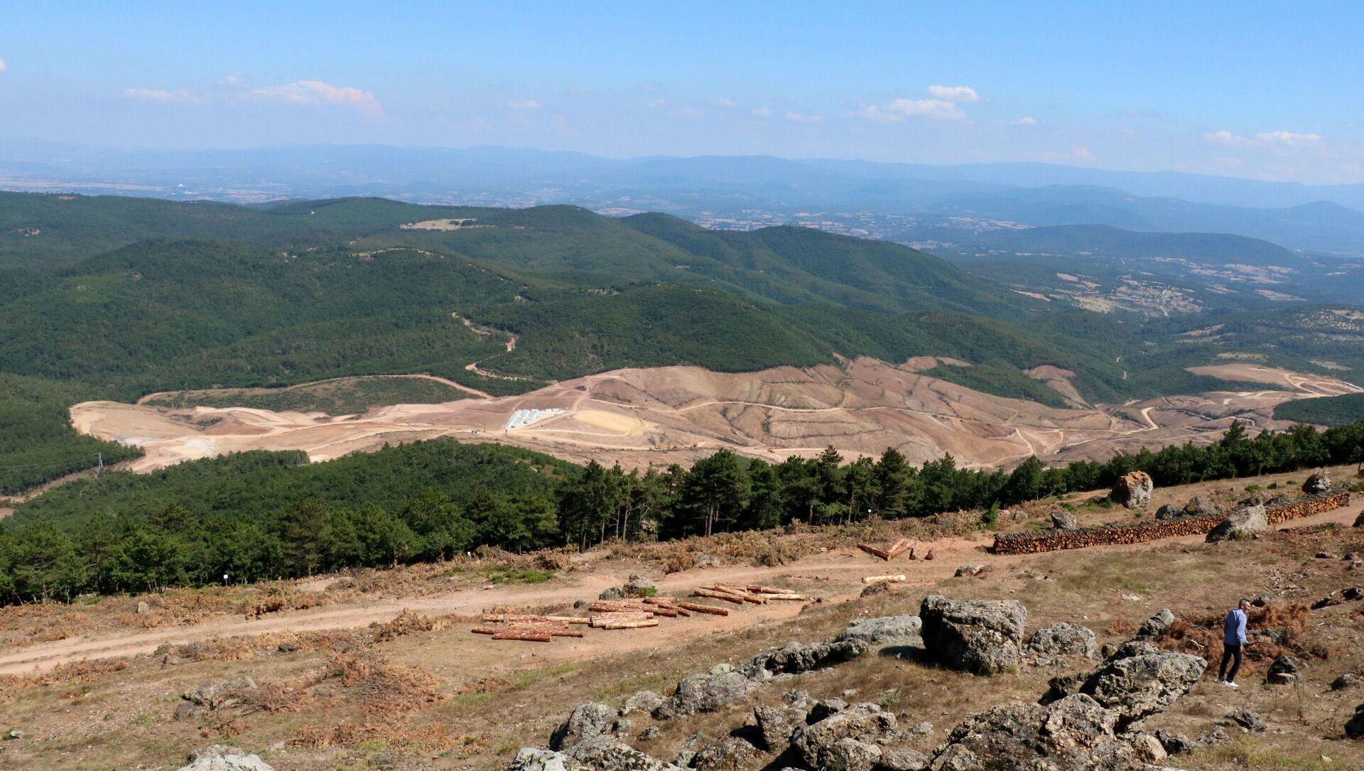 Kaz Dağları'nda altın madeni çalışmaları için binlerce ağaç kesildi. - Sputnik Türkiye, 1920, 20.04.2021