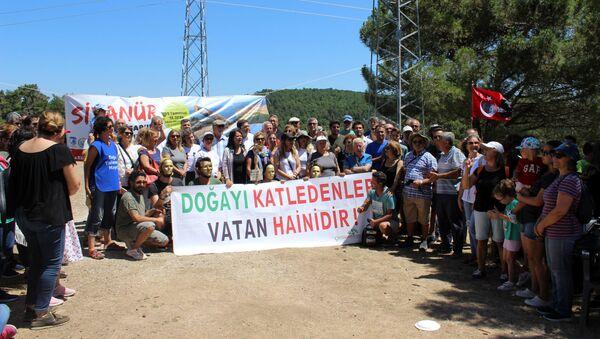 Kaz Dağları'nda altın madeni çalışmaları protesto edildi. - Sputnik Türkiye