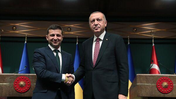 Türkiye Cumhurbaşkanı Recep Tayyip Erdoğan ve Ukrayna Devlet Başkanı Vladimir Zelenskiy - Sputnik Türkiye