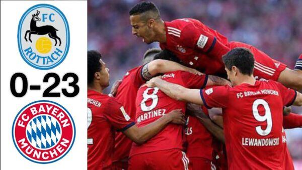 Almanya Bundesliga devi Bayern Münih, Rottach-Egern ile oynadığı antrenman maçını 23-0 kazandı. - Sputnik Türkiye