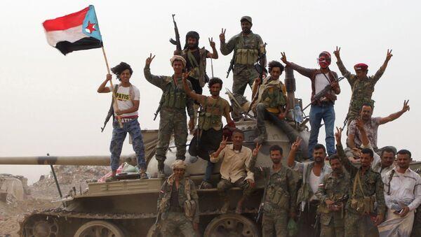 Yemen'de Birleşik Arap Emirliği (BAE) destekli Güney Geçiş Konseyi askerleri - Sputnik Türkiye