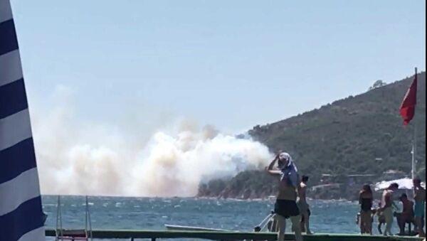 Burgazada - yangın - Sputnik Türkiye