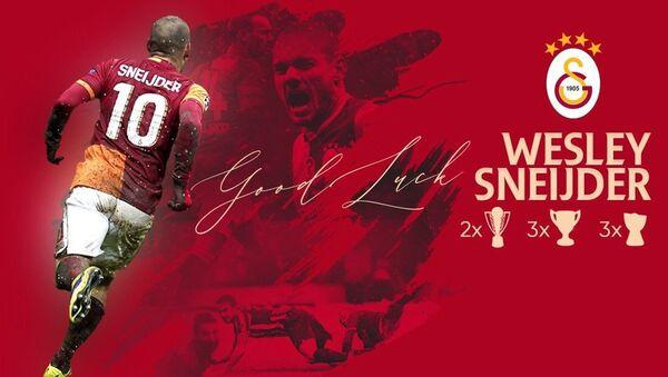 Galatasaray'dan futbolu bırakan Wesley Sneijder'e teşekkür - Sputnik Türkiye