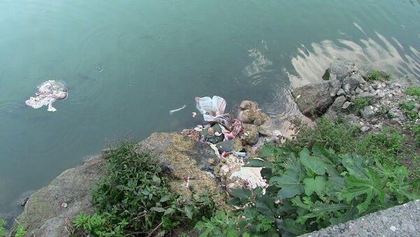 Artvin'de baraj gölüne atılan atıklar - Sputnik Türkiye