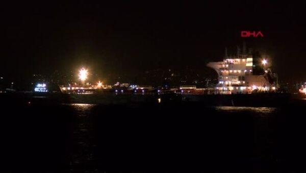 Zeytinburnu açıklarında iki gemi çarpıştı - Sputnik Türkiye