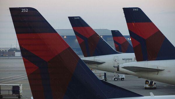 Salt Lake City havaalanındaki Delta Havayolları yolcu uçakları  - Sputnik Türkiye