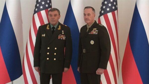 Rusya Genelkurmay Başkanı Gerasimov, ABD'li mevkidaşı Dunford - Sputnik Türkiye