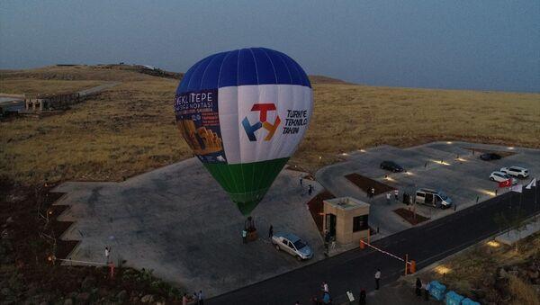 Göbeklitepe'de ilk sıcak hava balonu havalandı - Sputnik Türkiye