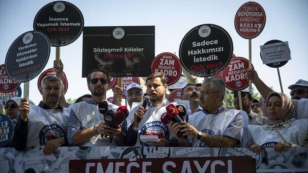 Memur-Sen, Ankara, 'Emeğe Saygı, Adalete Davet' eylemi - Sputnik Türkiye
