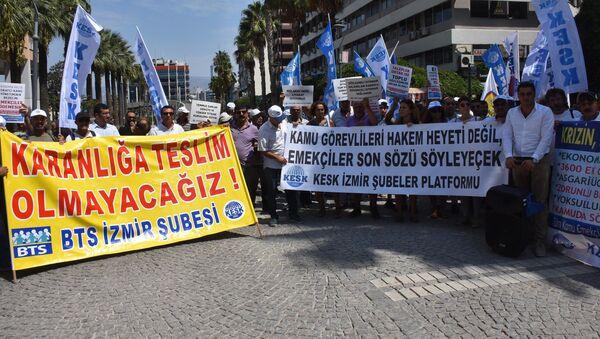 KESK'e bağlı sendikalardan memur zamları için iş bırakma eylemi - Sputnik Türkiye