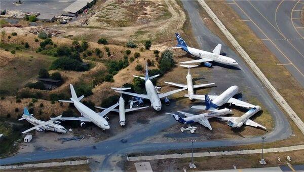 Atatürk Havalimanı hacizli ve hurda uçaklar - Sputnik Türkiye