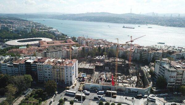 Taksim'de Atatürk Kültür Merkezi'nin (AKM) yerine yapılan yeni opera binası - Sputnik Türkiye