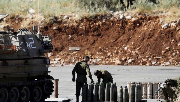 İsrail ordusu, füze, Lübnan sınırı - Sputnik Türkiye