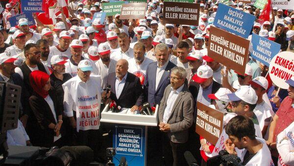 İşten çıkarılan İBB işçileri eylemde - Sputnik Türkiye