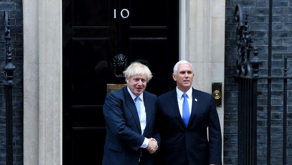 Boris Johnson, Pence ve Netanyahu ile görüştü - Sputnik Türkiye