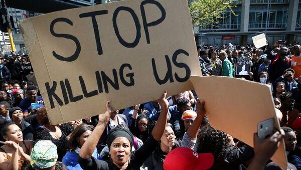 Güney Afrika'daki kadına yönelik şiddet olayları protestosu  - Sputnik Türkiye