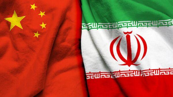 Çin İran bayrakları - Sputnik Türkiye