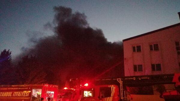 Kurtköy'de fabrika yangını - Sputnik Türkiye