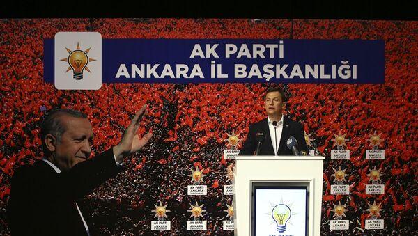 AK Parti Ankara İl Danışma Meclisi toplantısı, Mamak Necmettin Erbakan Kültür Merkezi'nde gerçekleşti. AK Parti Genel Sekreteri Fatih Şahin, toplantıya katılarak konuşma yaptı. - Sputnik Türkiye