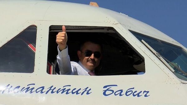 Bekir Pakdemirli, Rus yangın söndürme uçağını test etti - Sputnik Türkiye