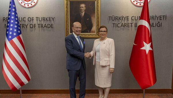 ABD Ticaret Bakanı Wilbur Ross - Ticaret Bakanı Ruhsar Pekcan - Sputnik Türkiye