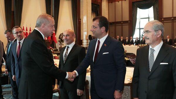 Recep Tayyip Erdoğan, Tunç Soyer, Ekrem İmamoğlu ve Yılmaz Büyükerşen - Sputnik Türkiye