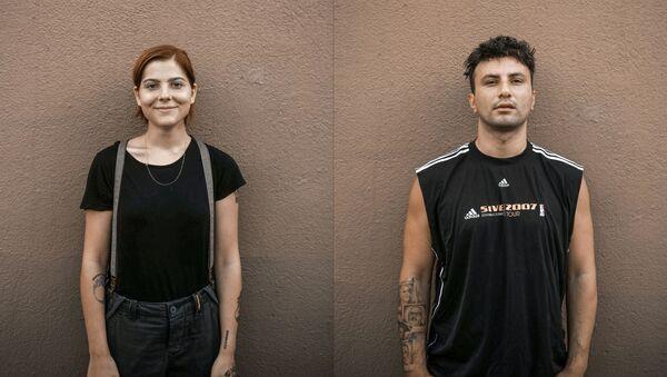 'Susamam' videosunda yer alan rapçilerden Samet Gönüllü ve Deniz Tekin AFP haber ajansına konuştu. - Sputnik Türkiye