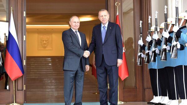 Vladimir Putin - Recep Tayyip Erdoğan - Sputnik Türkiye