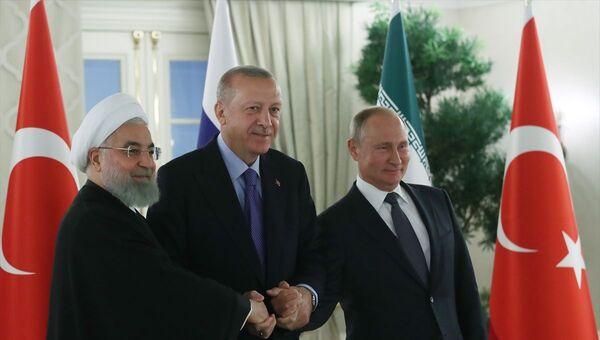 Erdoğan, Putin, Ruhani - Sputnik Türkiye