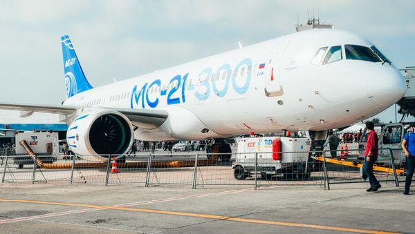 Rusya'nın, ilk uluslararası uçuşunu Teknofest'te yerini almak için İstanbul'a yapan yolcu uçağı MS-21-300 - Sputnik Türkiye