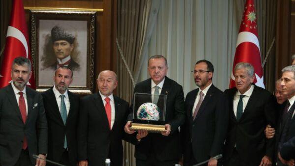 Cumhurbaşkanı Erdoğan, TFF Yönetim Kurulunu kabul etti - Sputnik Türkiye