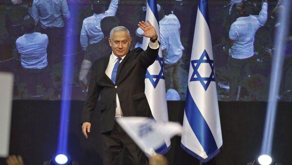 İsrail Başbakanı Benyamin Netanyahu tekrarlanan seçimlerde tek başına hükümet kurmak için çoğunluğu bulamadı. - Sputnik Türkiye