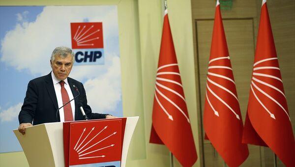 Cumhuriyet Halk Partisi (CHP) Genel Başkan Yardımcısı Ünal Çeviköz, parti genel merkezinde basın mensuplarına açıklamalarda bulundu. - Sputnik Türkiye