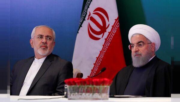 İran Cumhurbaşkanı Ruhani ve Dışişleri Bakanı Zarif - Sputnik Türkiye