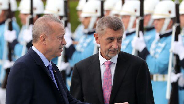 Recep Tayyip Erdoğan - Andrej Babis - Sputnik Türkiye